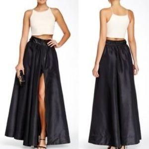 TOV holy black swept away widow organza skirt